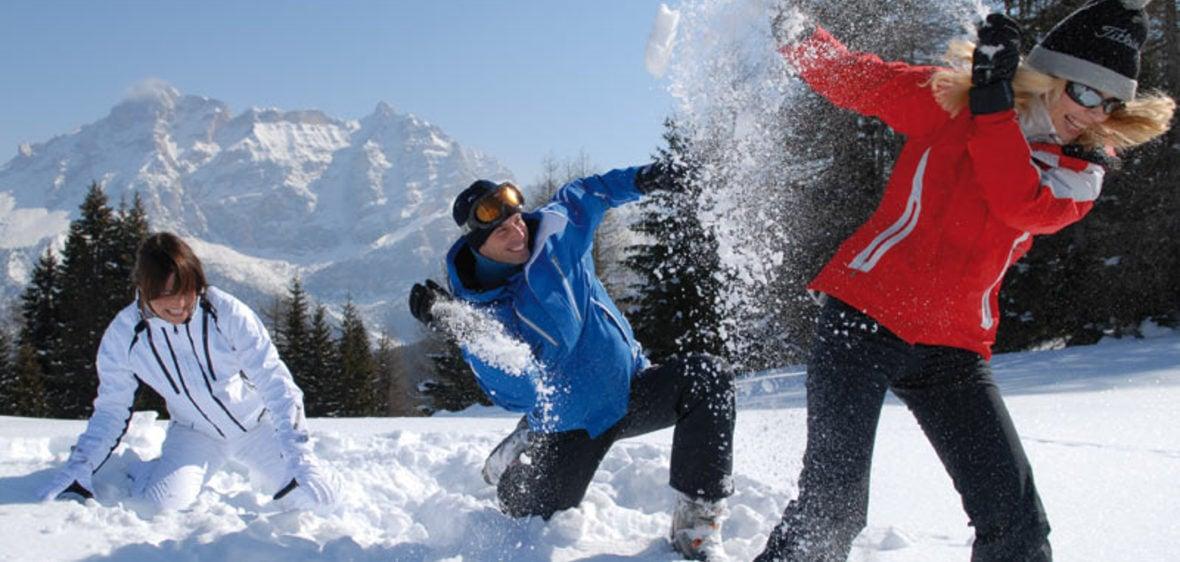 Zima v prašanu Dolomiti Superski: